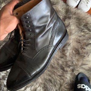 Black Leather - Kenneth Cole boots - vintage